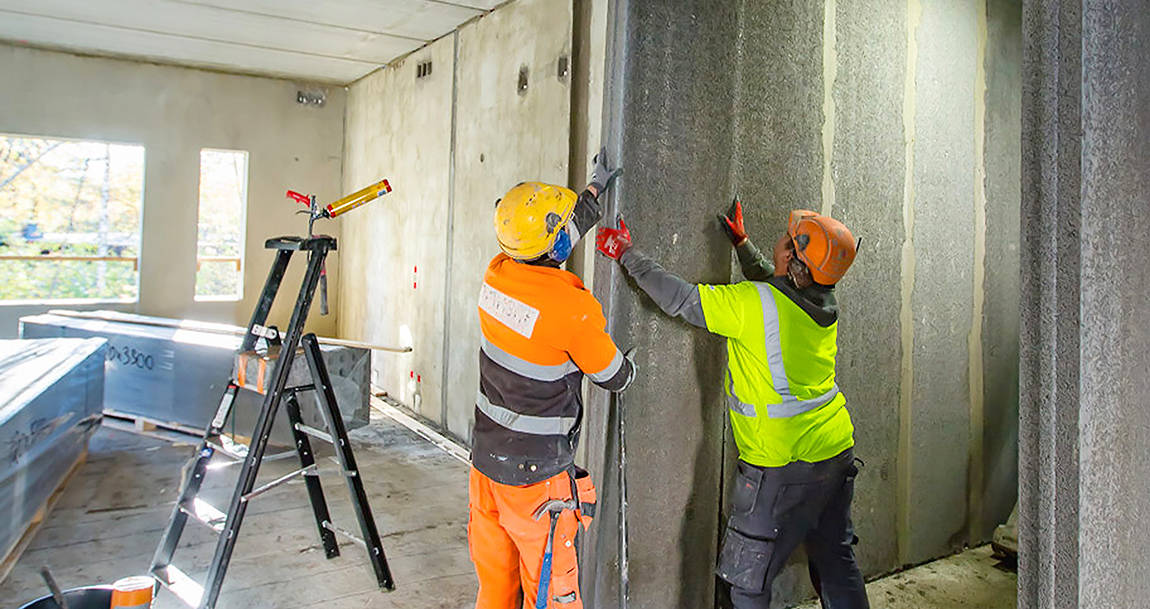 Acotec partition wall installation