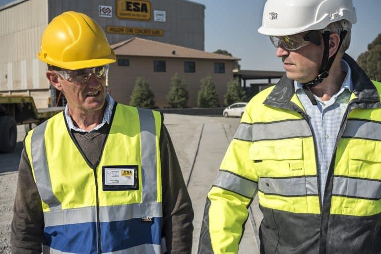 Craig Webber, Director of ESA & Curt Lindroth, Area Sales Director, Elematic