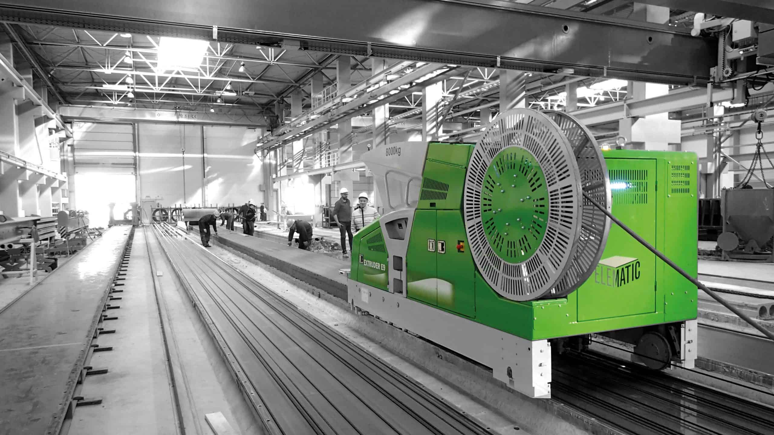 Elematic Extruder on the production line