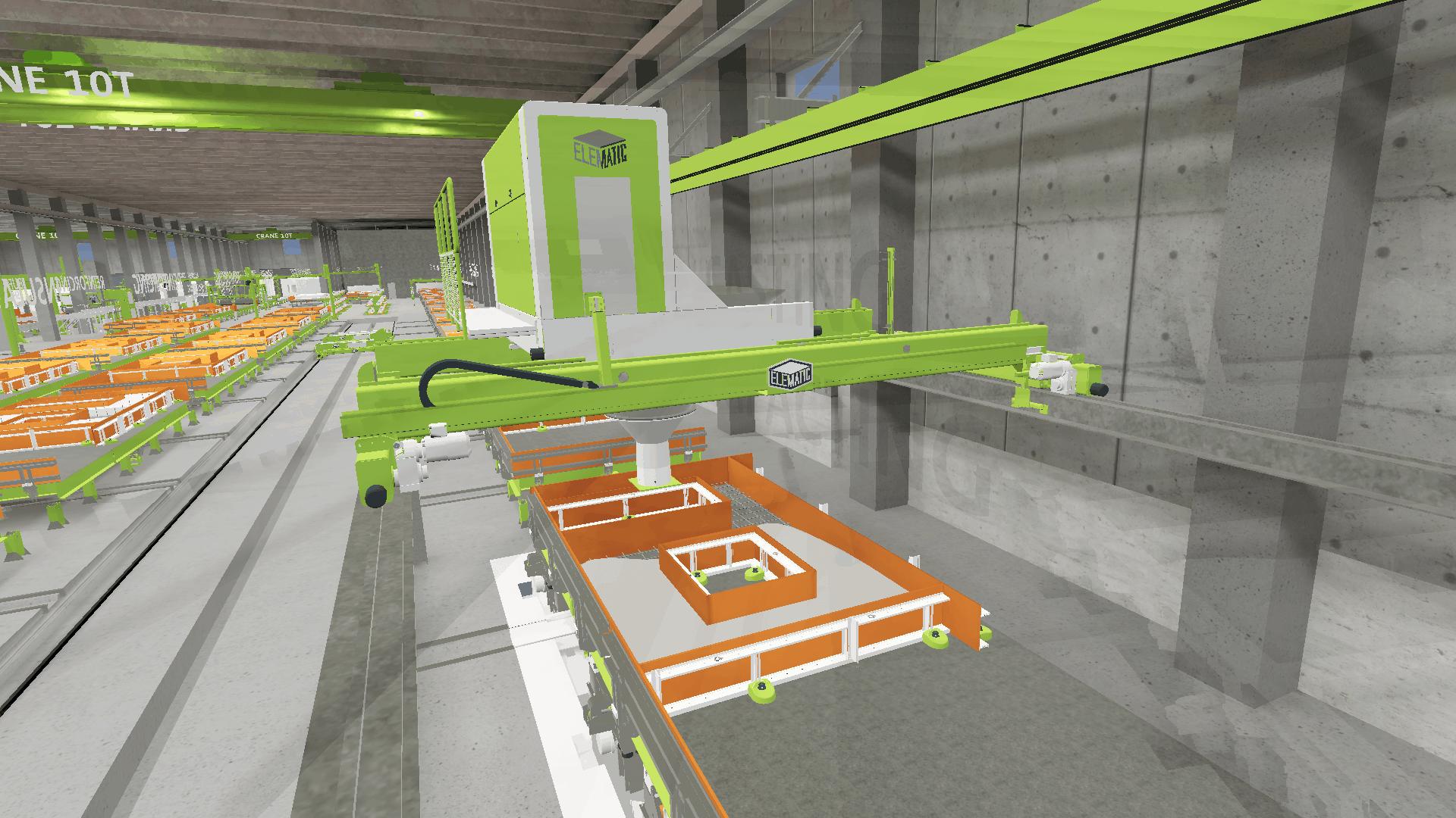 VR precast plant models