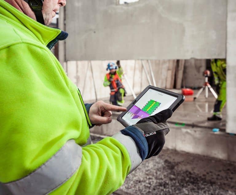 Digitalized construction work flows