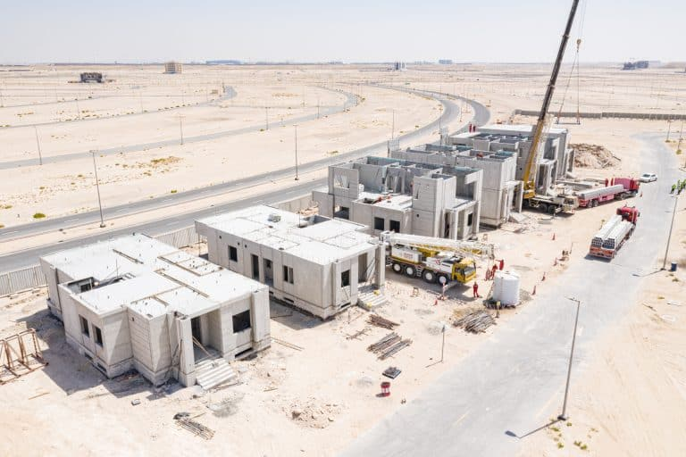 Precast construction site