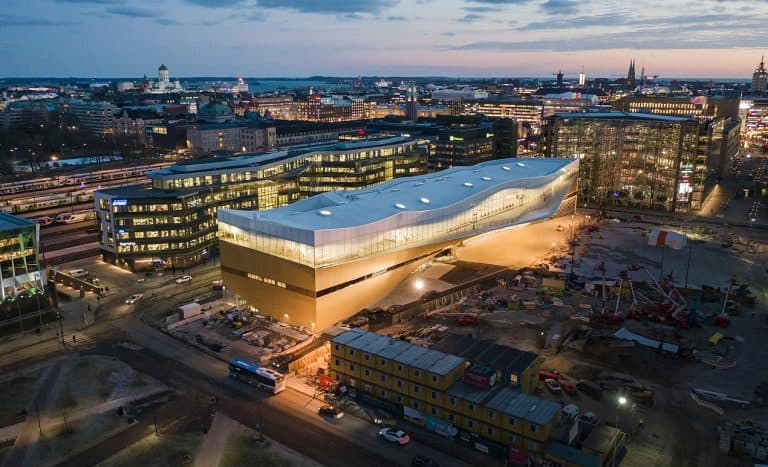 Oodi, the Helsinki Central Library in Finland