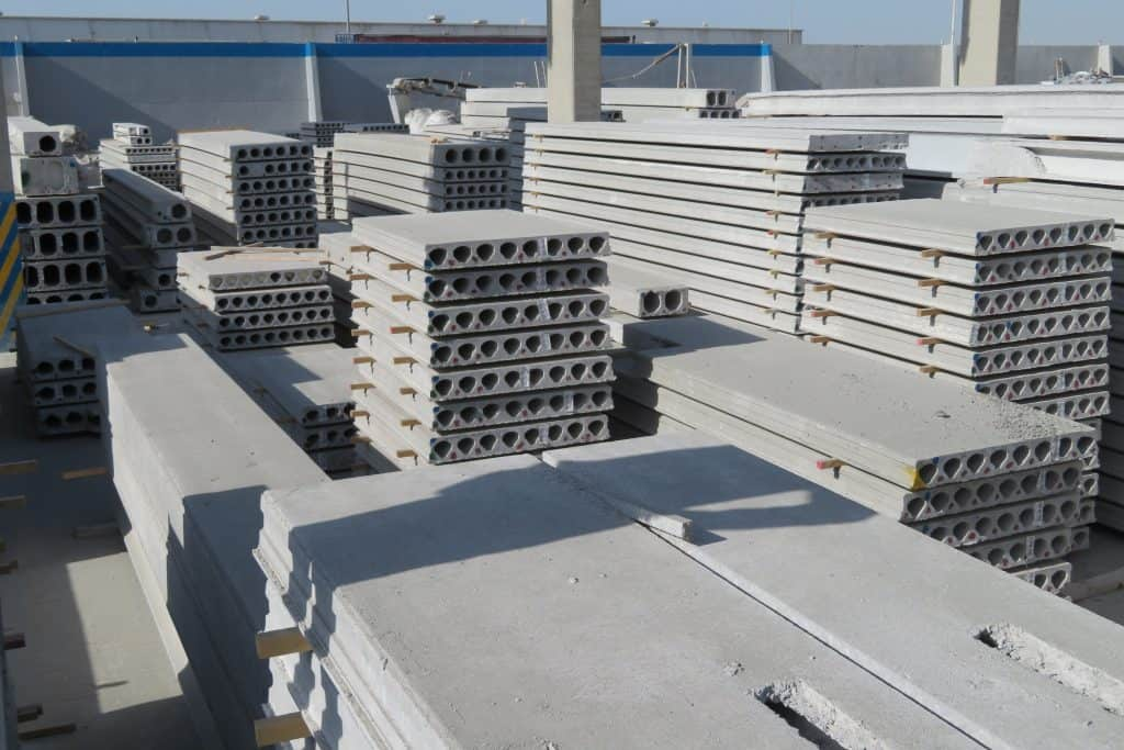 Hollowcore storage yard, Dubai Precast, UAE