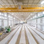 Hollowcore slab production line, Molin Concrete Products Co., USA