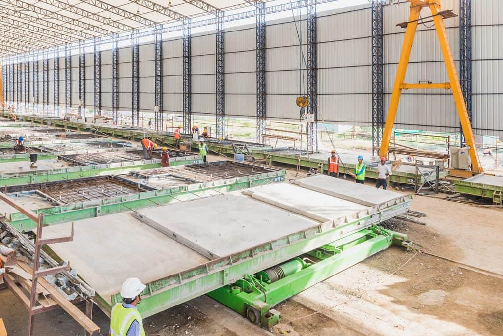 Elematic SEMI Wall production line