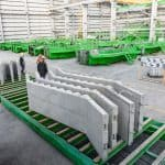 Precast stairs at the factory