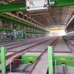 Hollowcore production line, Hansung PCC, Asan factory, South Korea