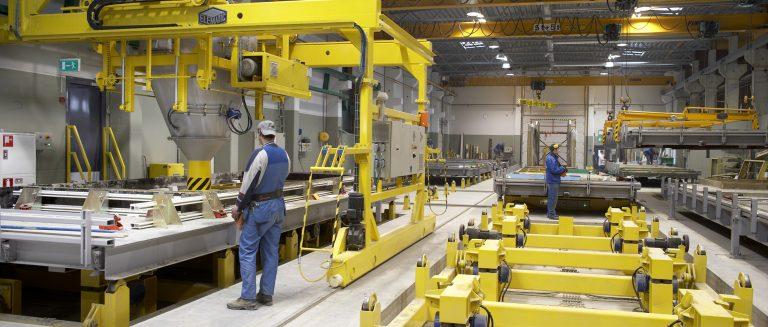 Wall production line, VaBe Oy, Valkeakoski, Finland