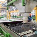 Casting on circulating precast wall production line