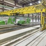 Hollowcore production line, Mid-States Concrete Industries, USA
