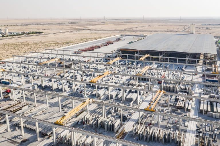 Storage yard, United Precast Concrete Dubai, UAE