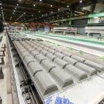 Superslab production line, Lujabetoni Järvenpää, Finland