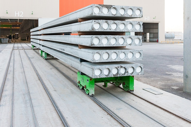 Wagon E9 for hollow core line