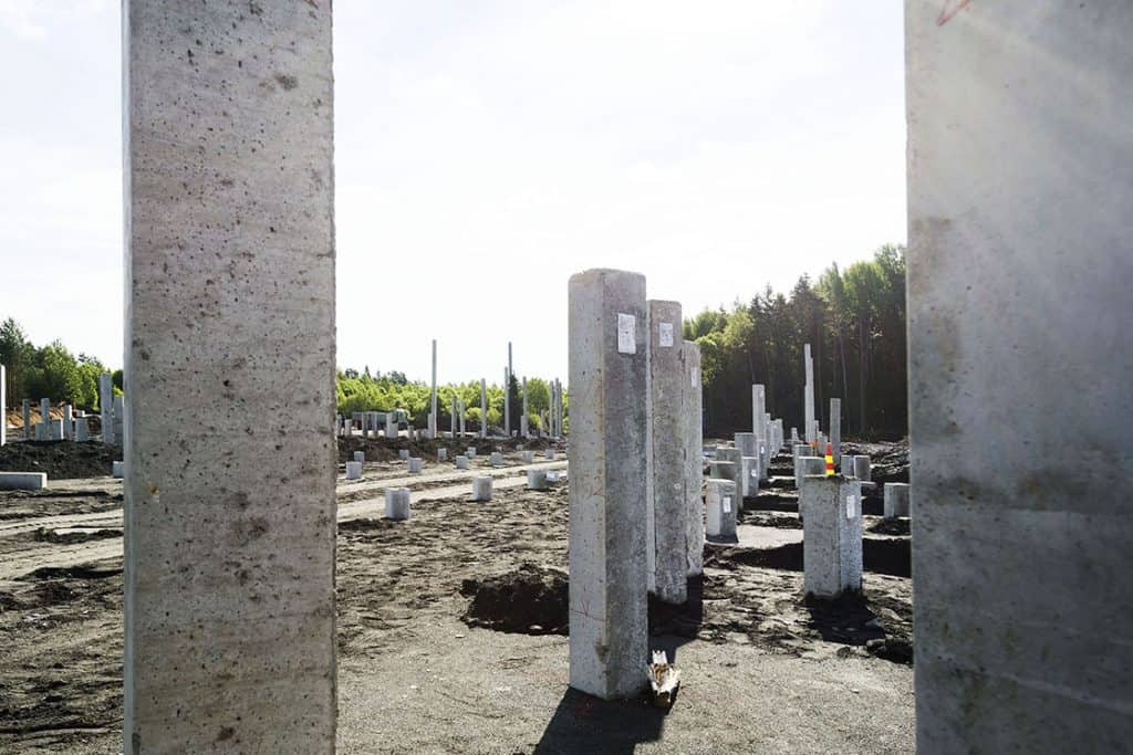 Precast piles used for a foundation