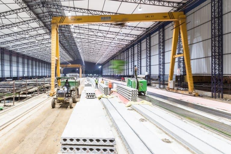 Elematic SEMI Floor precast hollow core production line