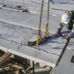 Installing half slabs