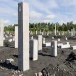 Precast piles, used for a foundation