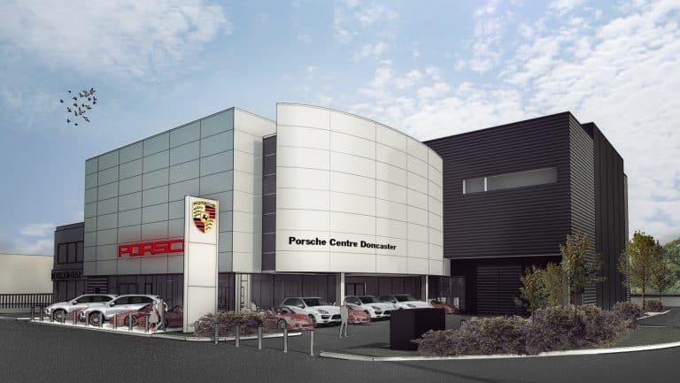 Porsche centre 3D visualisation @ Techne
