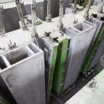 Casting station for ventilation ducts in use at Karkas Monolit, Russia