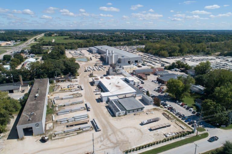 Mid-States Concrete Industries' precast plant.