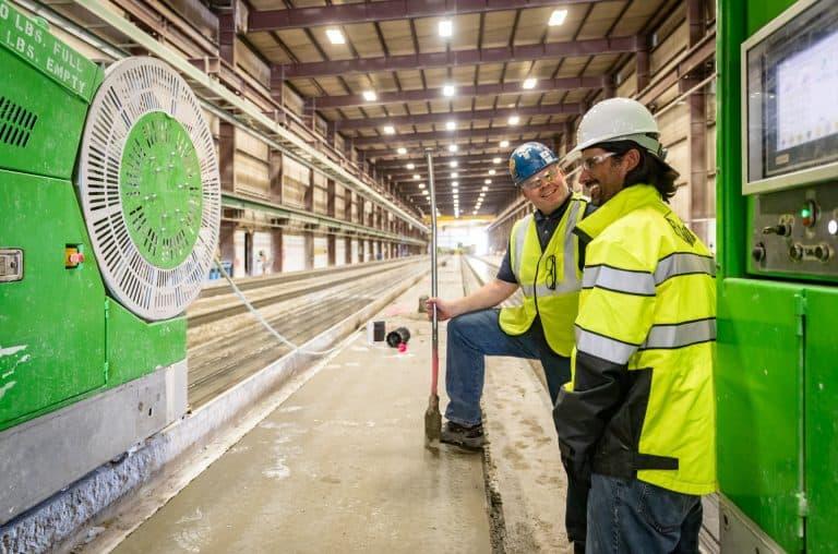 Mid-States Concrete Industries's hollow core production.