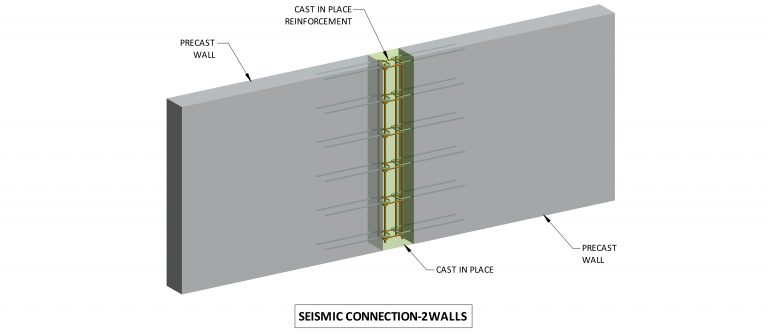 Seismic connection: 2 walls