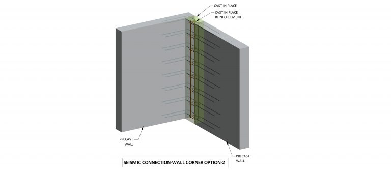 Seismic connection: wall corner option
