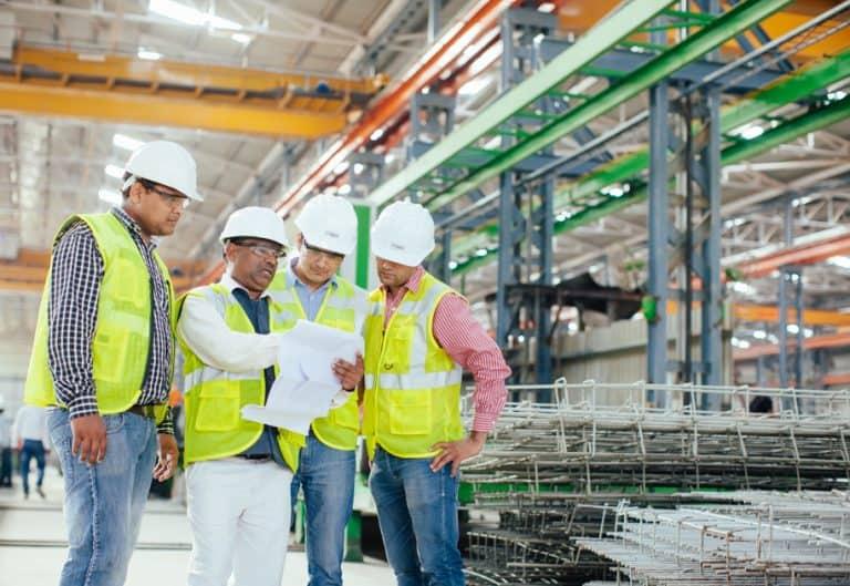 Team meeting at B. G. Shirke Construction Technology.