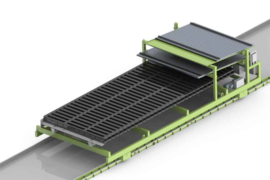 Elematic Wagon E9-10s for half-slab long line