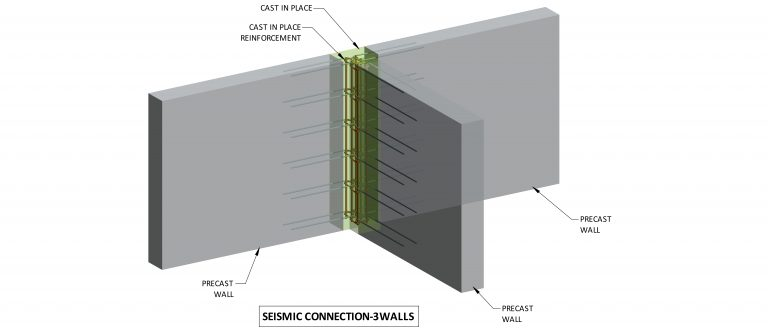 Seismic connection: 3 walls