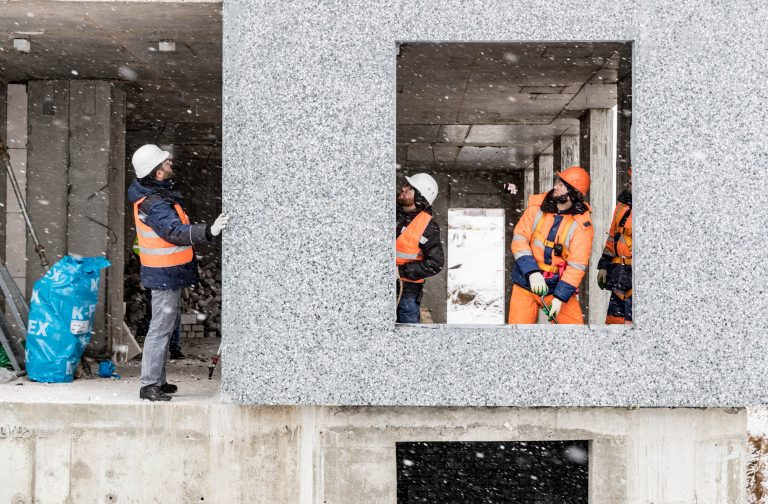 Precast wall panel installation