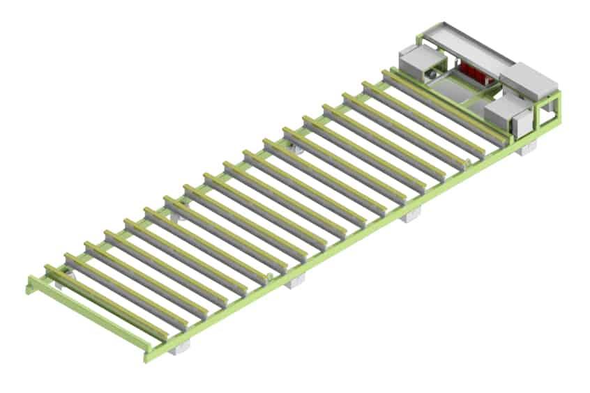 Elematic Wagon E9-25 for half-slab long line