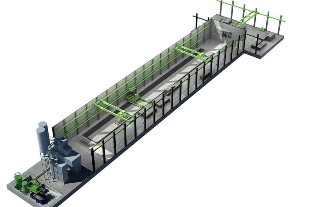 Elematic foundation line, 3D