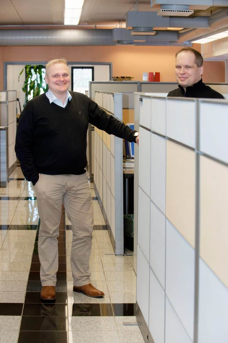 Jouni Sirkka, Director of Product Development and Petri Partanen, Automation Engineer at Elematic