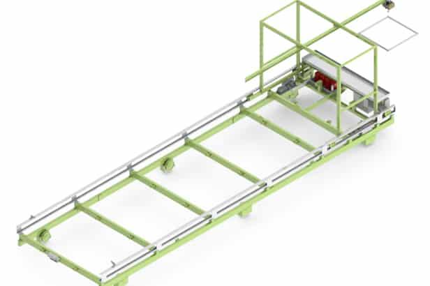 Elematic wagon E9-4r for half-slab long line