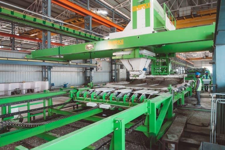 Hollow precast column production at B. G. Shirke Construction Technology.