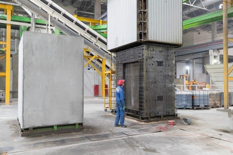 Precast lift shaft production