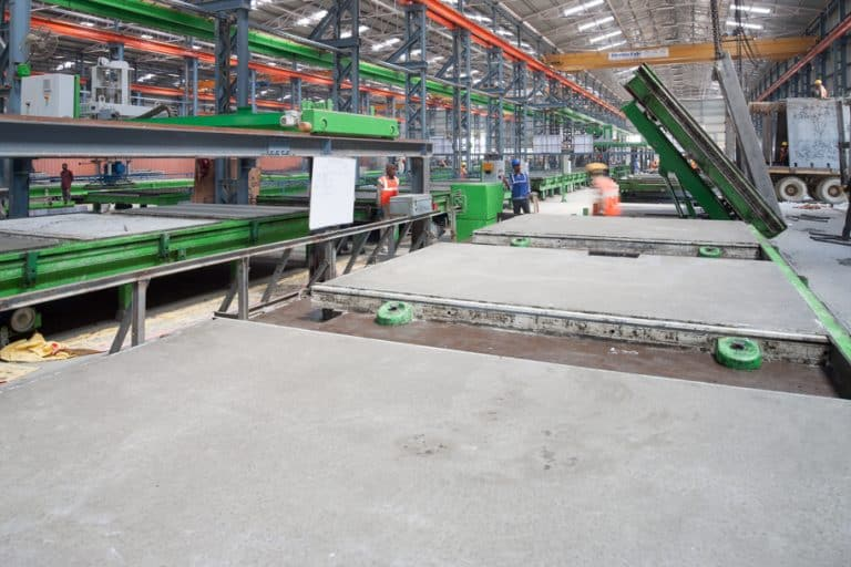 Elematic tilting tables at B. G. Shirke Construction Technology