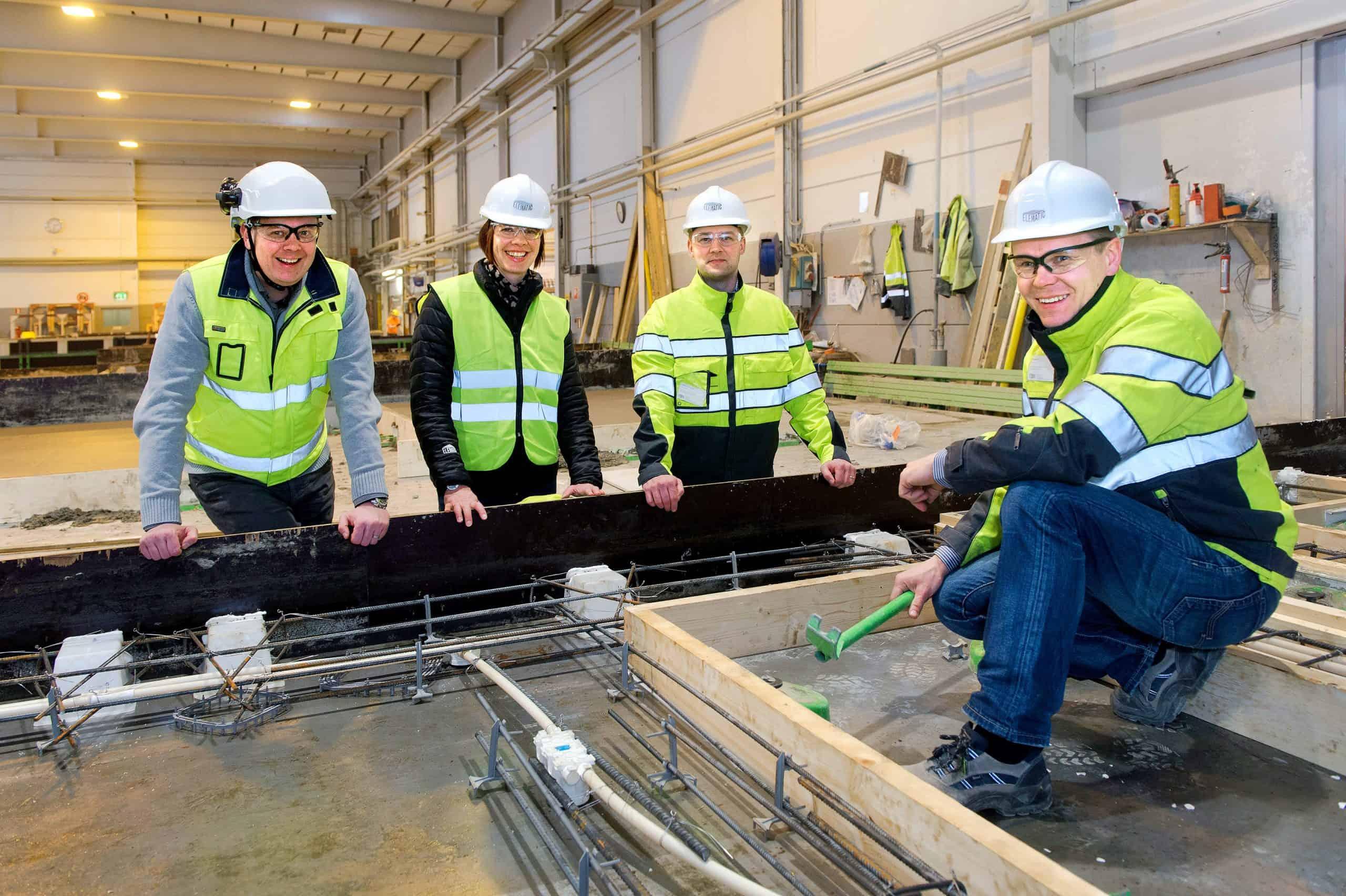 Elematic team visiting a precast wall plant