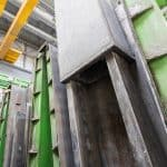 Casting station for ventilation ducts in use at Karkas Monolit site, Russia