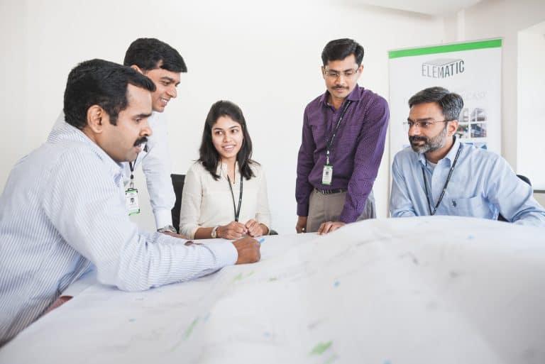 Elematic's design team at work.