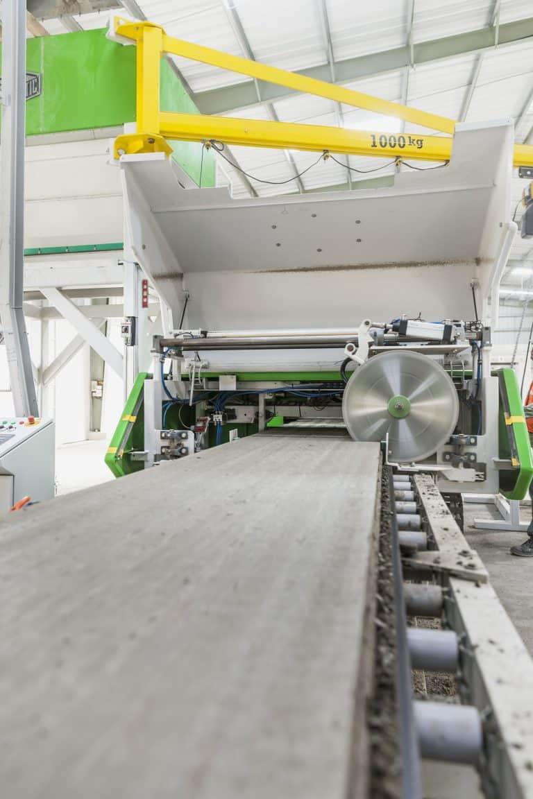 Elematic Acotec production line.