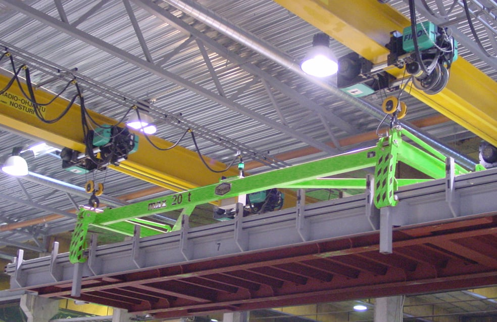 Elematic stacking frame in use