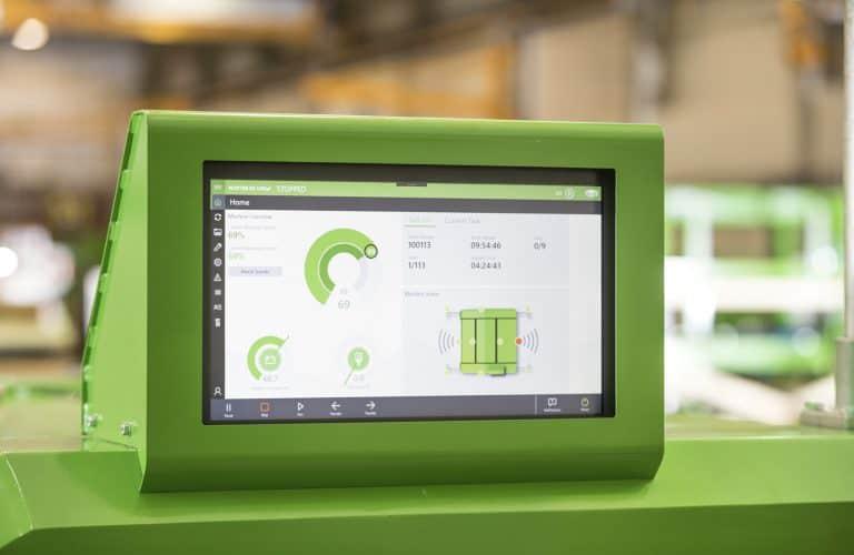 The screen of Elematic Plotter E9