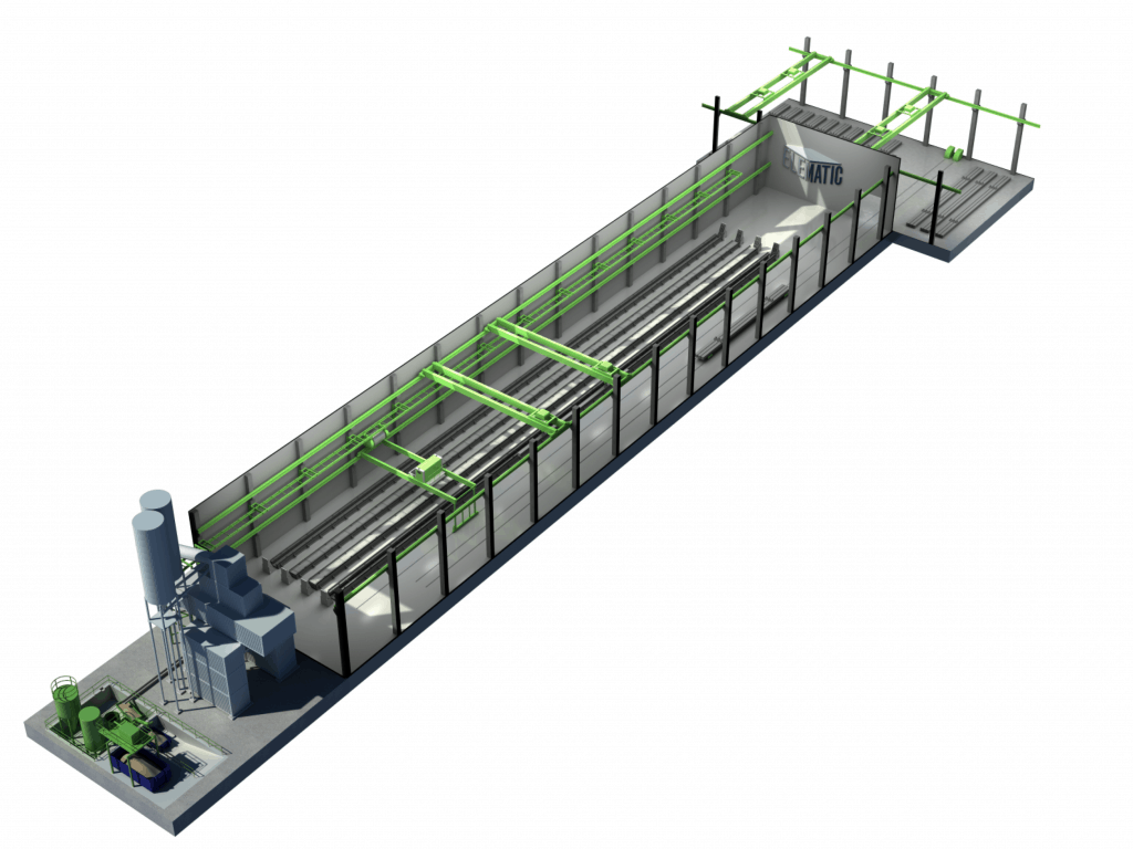 Combined hollow core and frame line
