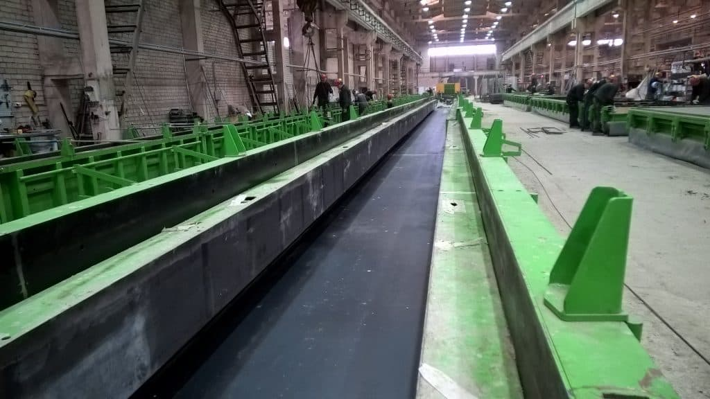 Elematic casting bed for beams and columns