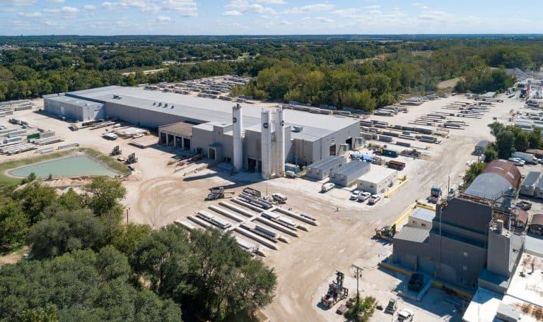 Precast plant of Mid-States Concrete Industries