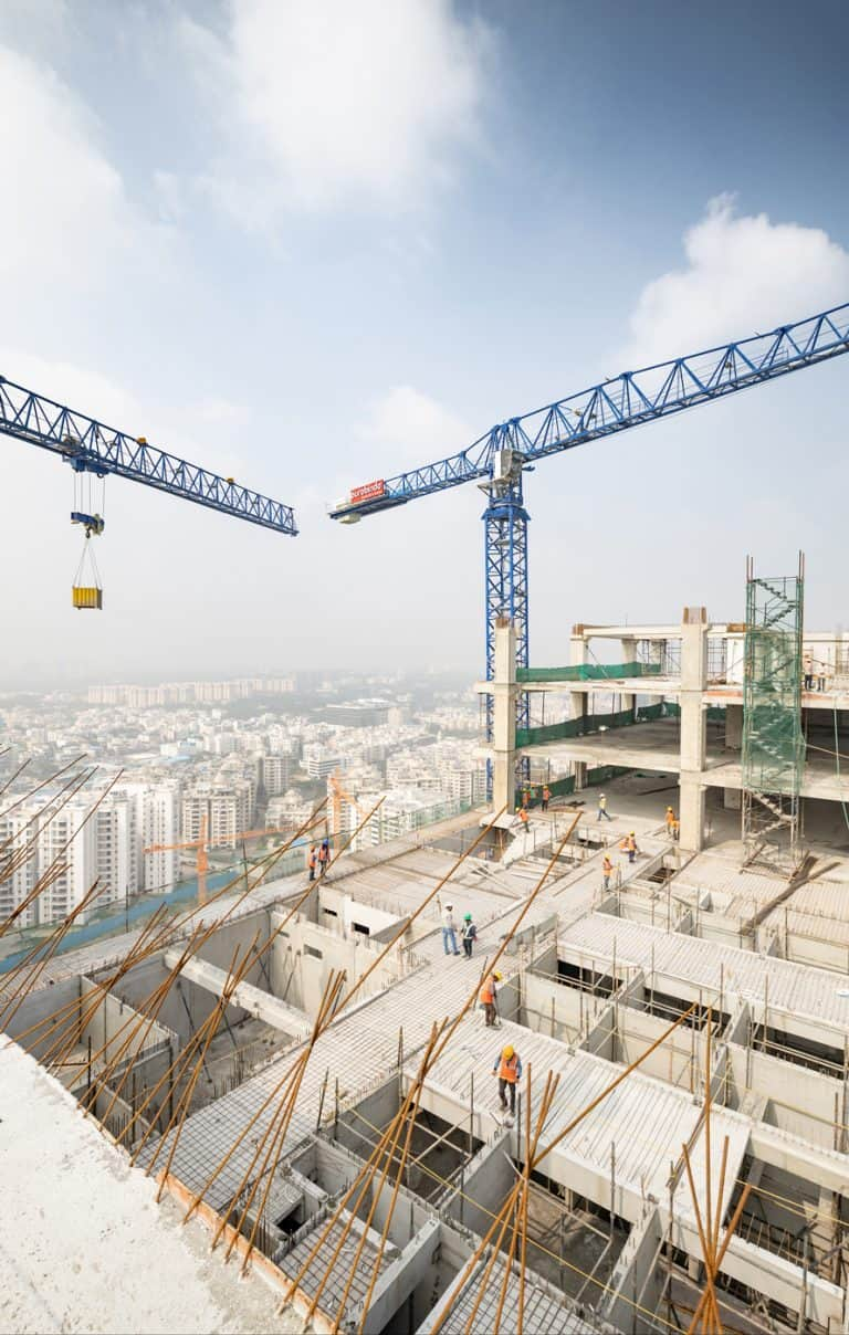 Aurobindo Realty & Infrastructure's construction site